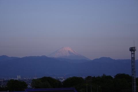 双葉SAのマジックアワー、富士山