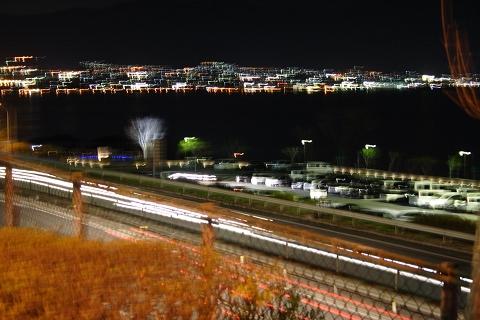 諏訪湖SA、諏訪湖の夜景