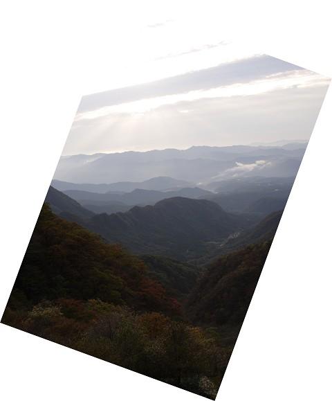 赤城山 山並と紅葉