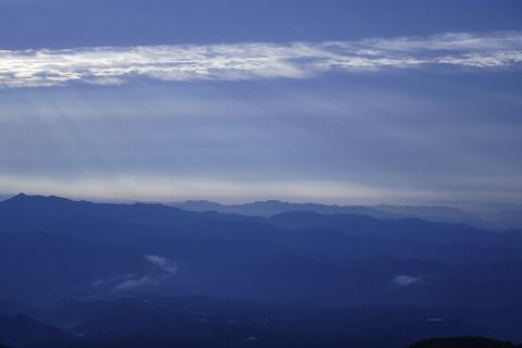 赤城山から望む山並