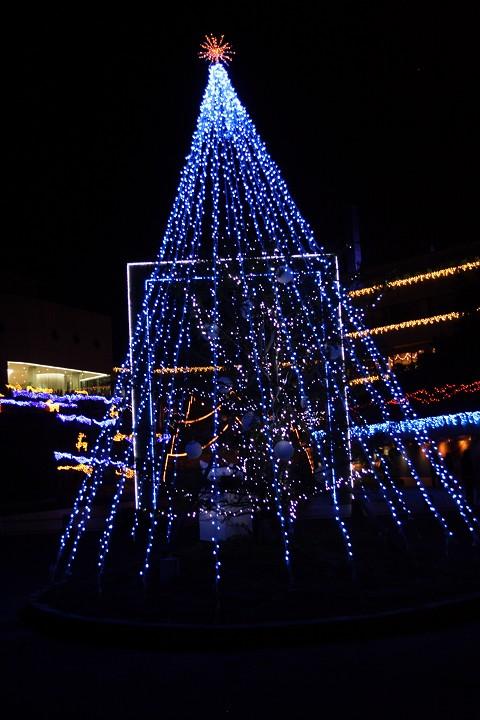 飛騨世界生活文化センター 館外のライトアップ 3