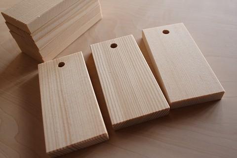 スプルス(トウヒ)の木札材料