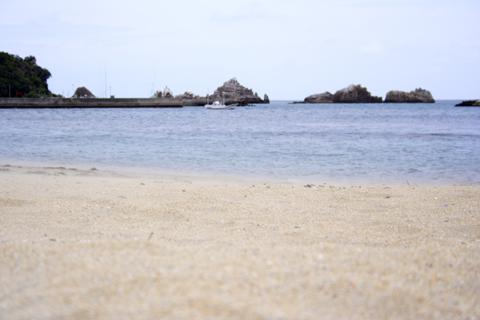 砂浜のある海の風景
