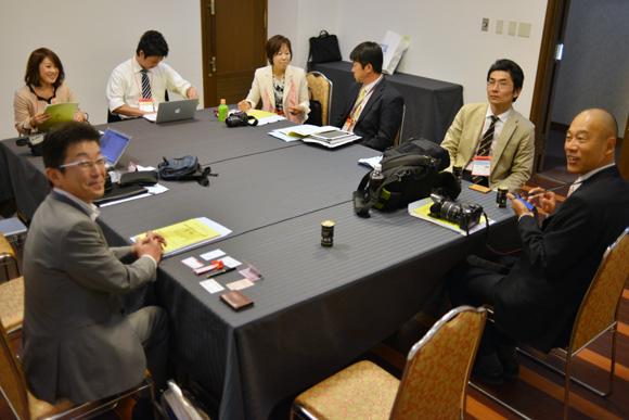 ポータルサイトサミット2012in宮城 控え室にて