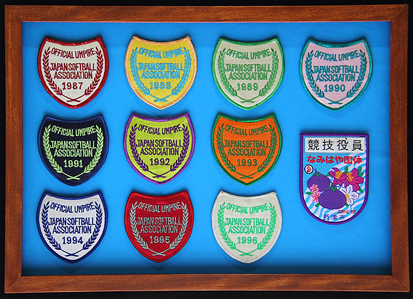 The memorabilia_ framed has been the emblems