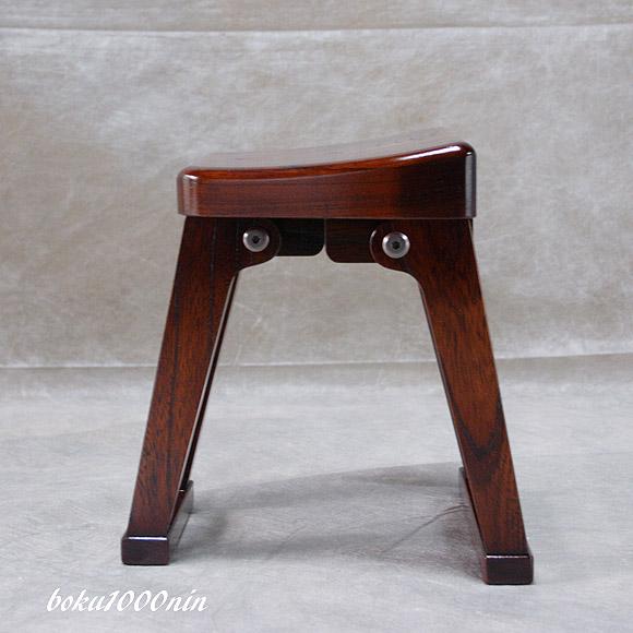 尺八奏者の椅子 サイドビュー